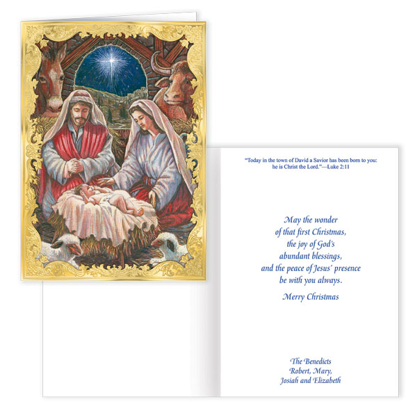 Holy Family Personalized Christmas Cards Set Of 20