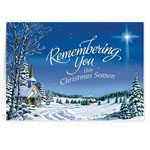Christmas Cards - Remembering You Religious Christmas Card Set of 20
