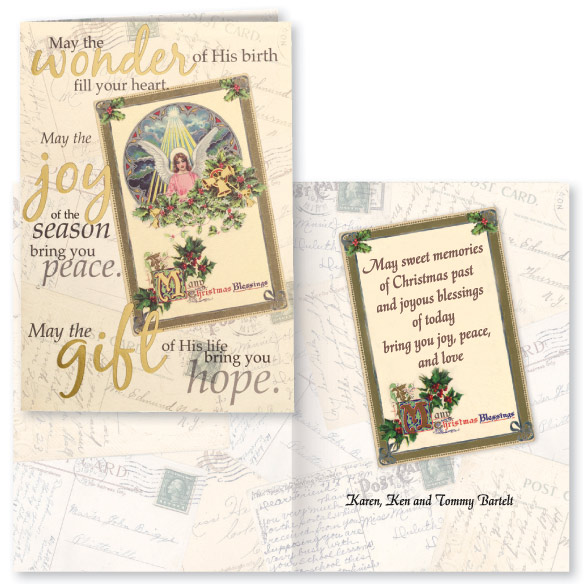 Nostalgic Collage Christmas Card - Set Of 20