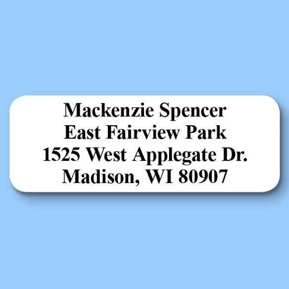 Classic Style Return Address Labels - Set of 200 - View 1