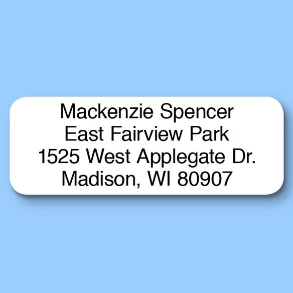 Block Personalized Roll Address Labels, Set of 200