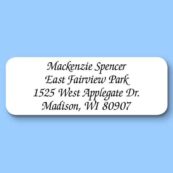 Calligraphy Personalized Roll Address Labels, Set of 200