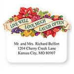 Personalized Labels - Pers Live Love Laugh Die Cut Labels Set of 100