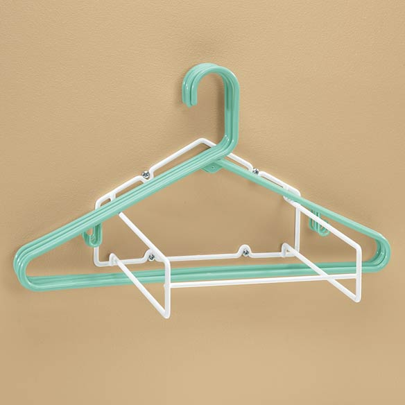Hanger storage rack hanger stacker walter drake for What to do with extra clothes hangers