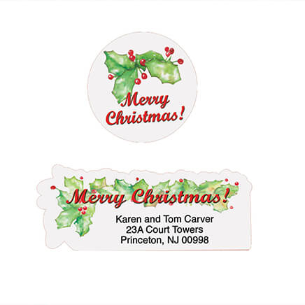 Merry Christmas Labels Christmas Address Labels Walter Drake