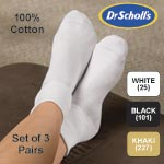 Dr. Scholl's Cotton Anklet Set of 3