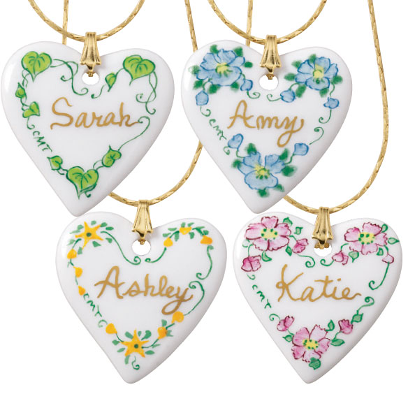 Personalized Porcelain Heart Necklace