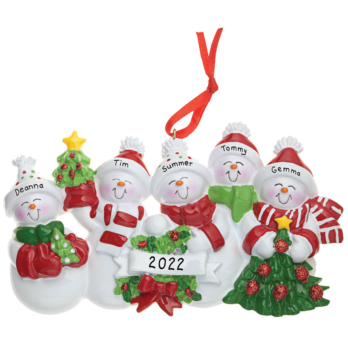 Baptism Ornament Personalized Christmas By Personalizedgallery: Personalized Snow Family Ornament