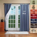 Energy Savers - Weathermate Insulated Tab Curtains 80x54