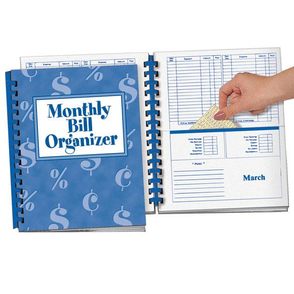 Monthly Bill Organizer Bill Organizer With Pockets