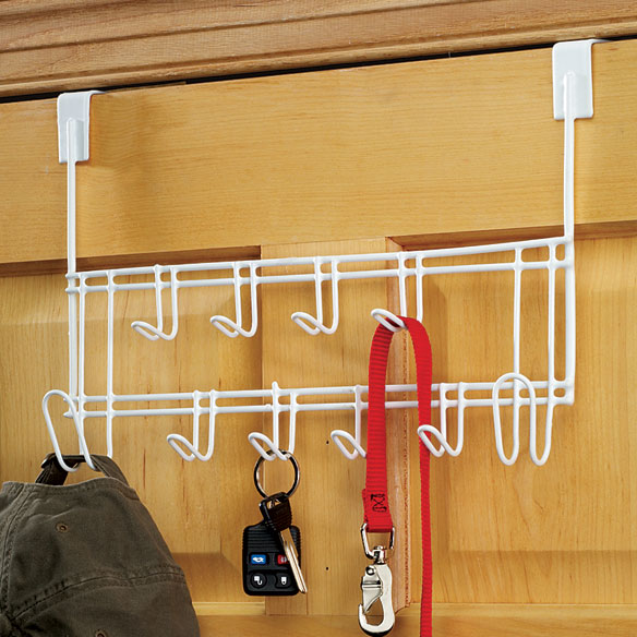 Over-The-Door 10-Hook Clothes Rack