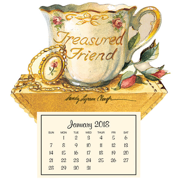 Mini Magnetic Calendar Treasured Friend