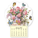 Special Truckload Sale - Teapot with Butterflies Mini Magnetic Calendar