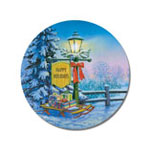 Home Office - Christmas Lamppost Envelope Seals - Set of 21