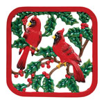 Decorations & Storage - Winter Cardinals Cast Iron Trivet
