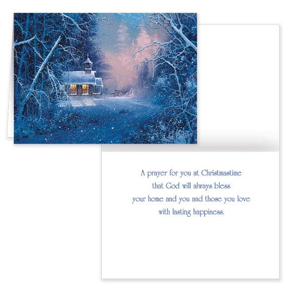 Woodland Chapel Christmas Card Pers Set of 20