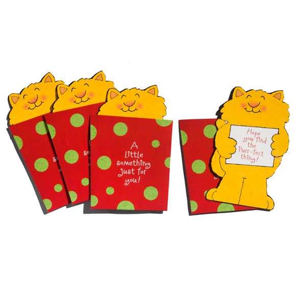 Cat Christmas Gift Card Holder