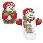 Snowman Money Gift Christmas Card Set of 3
