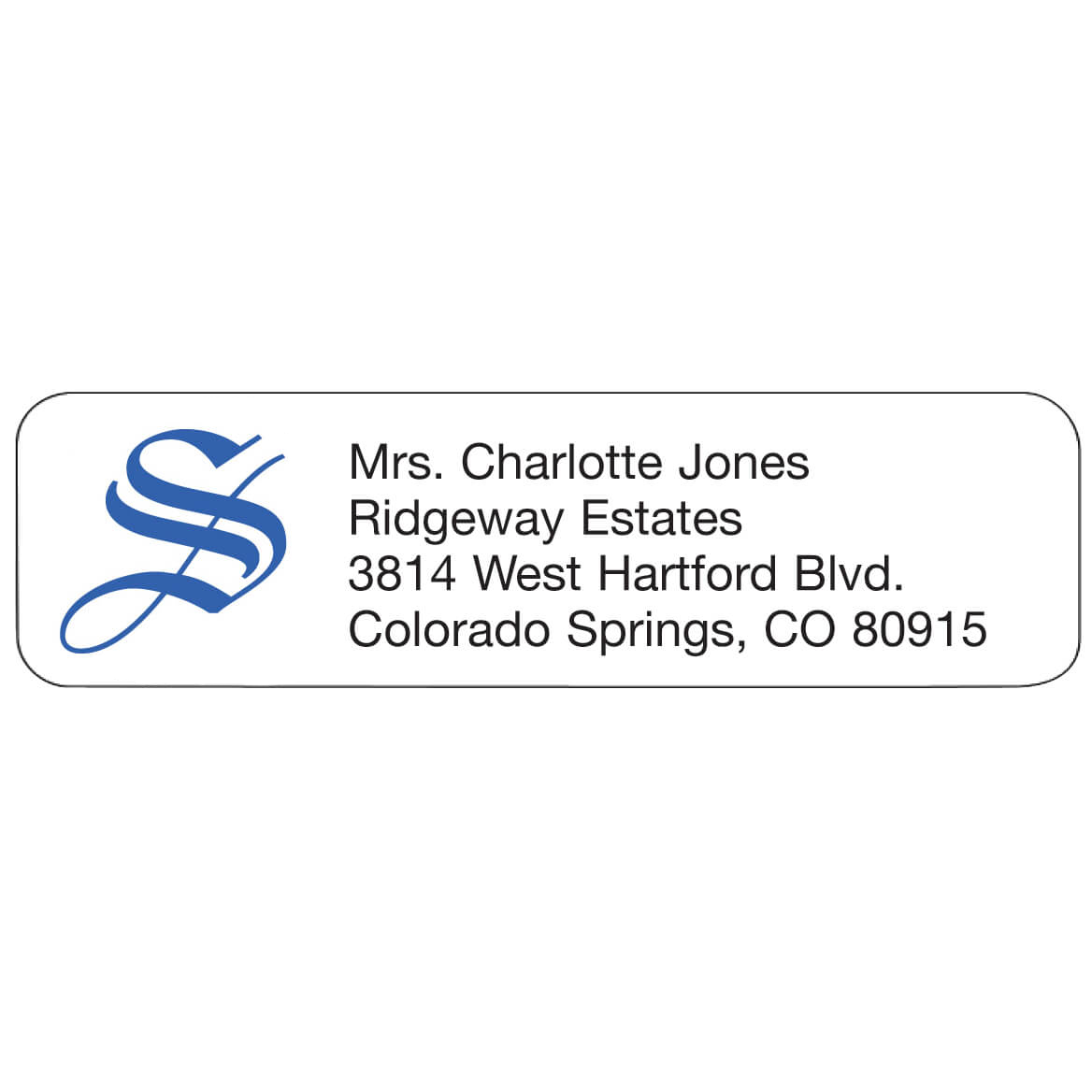 Ornate Initial Personalized Address Labels-333166