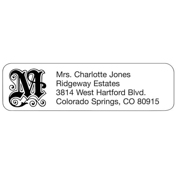 Elegant Initial Personalized Address Labels - Set Of 200