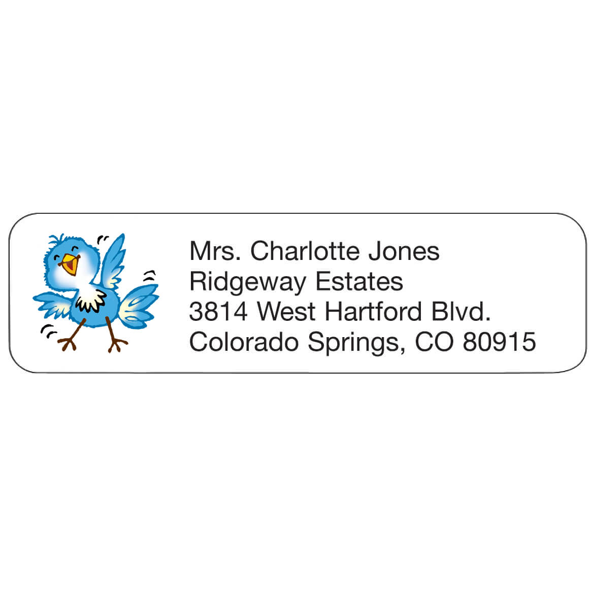 Bluebird Personalized Address Labels-333170