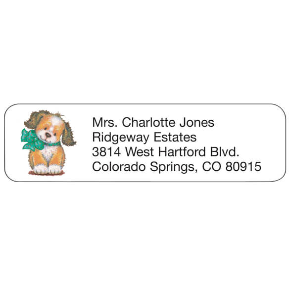 Puppy Personalized Address Labels