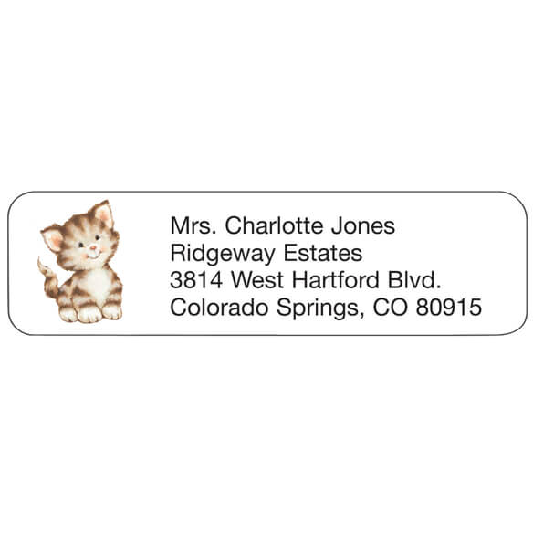 Kitten Personalized Address Labels