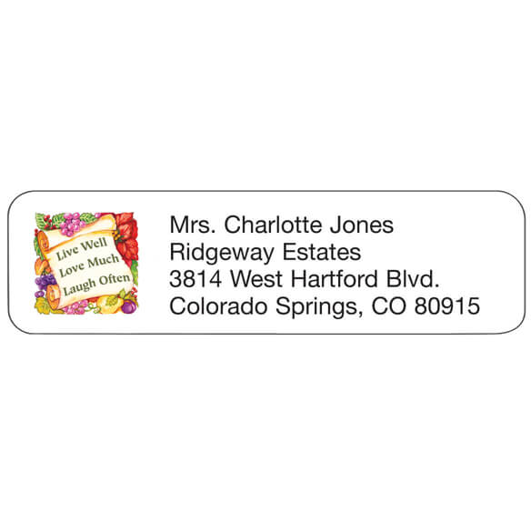 Live Laugh Love Personalized Address Labels