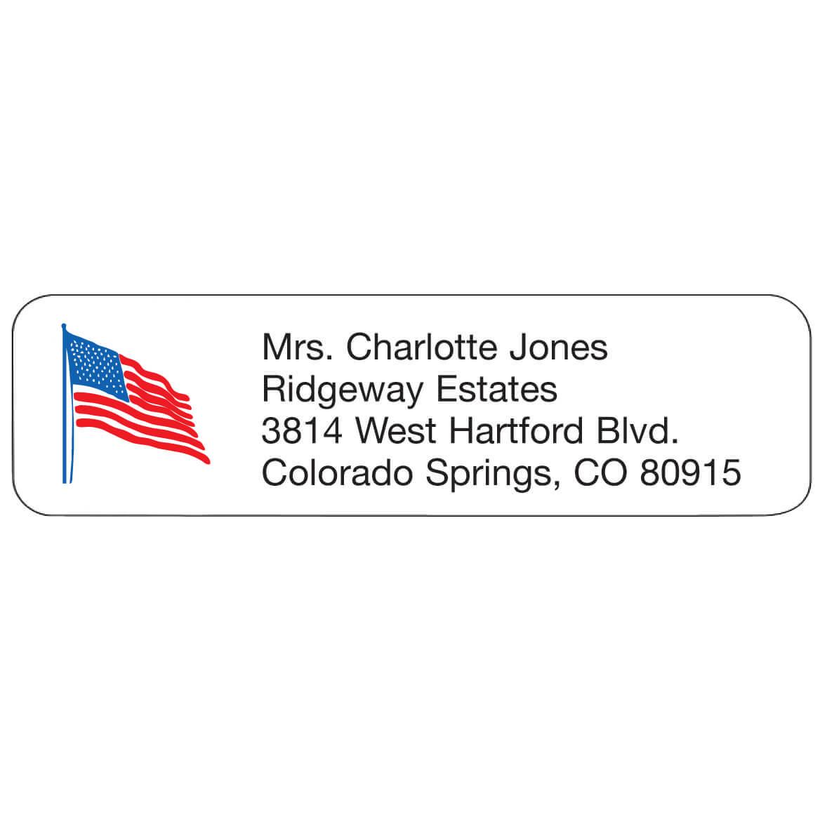 Personal Design Labels Flag-333183