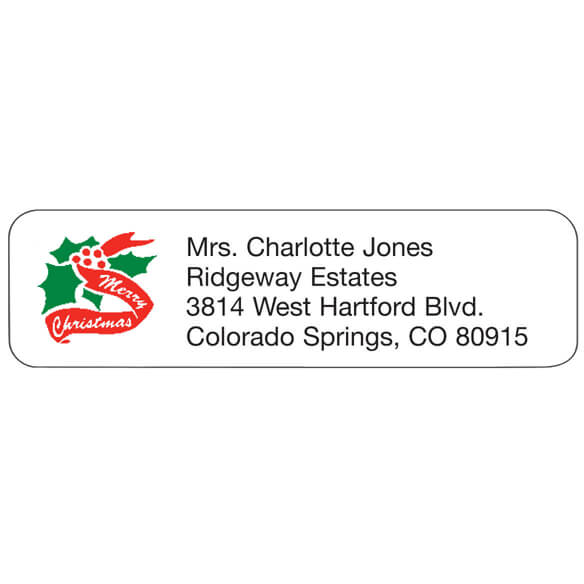 Christmas personalized address labels walter drake