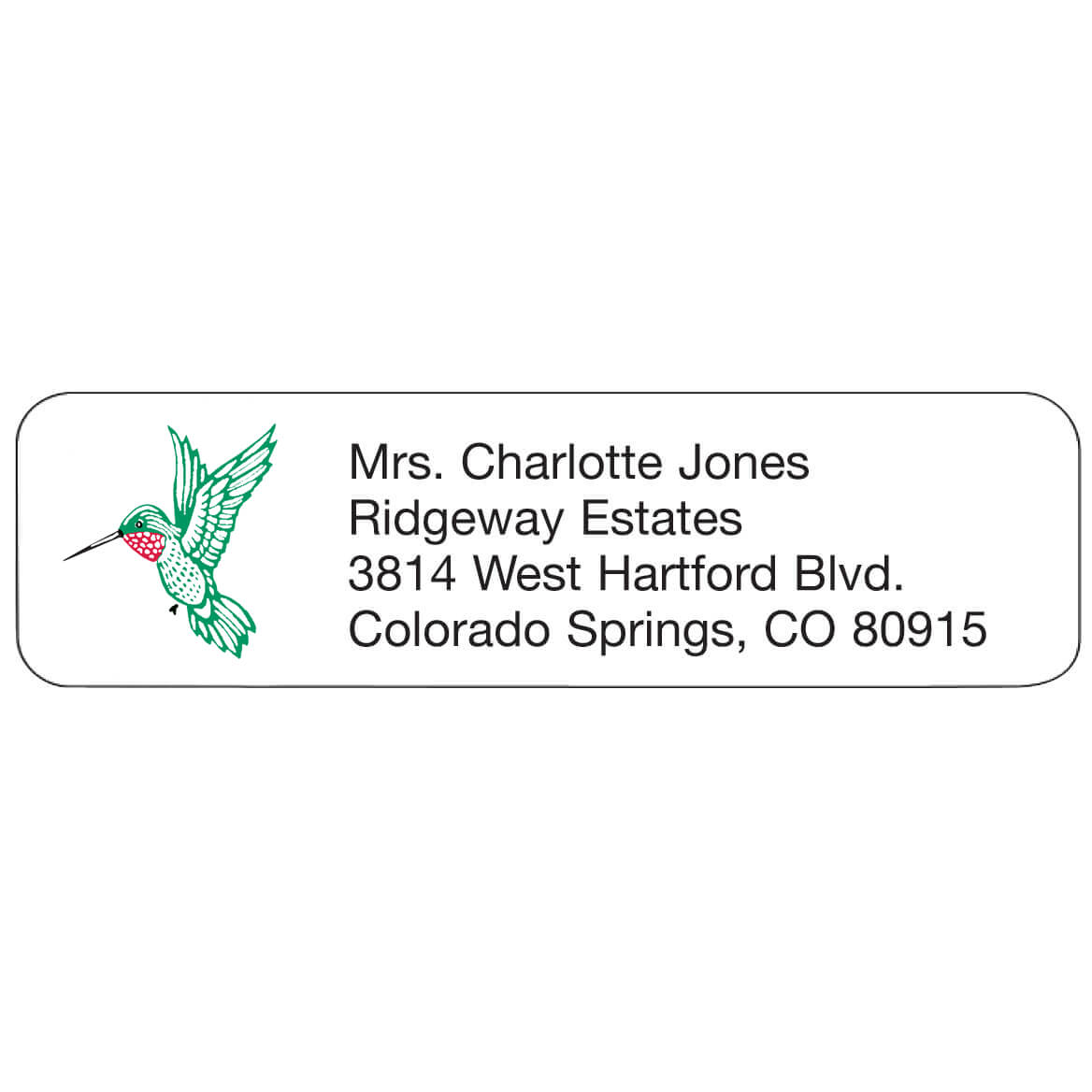 Hummingbird Personalized Address Labels-333185