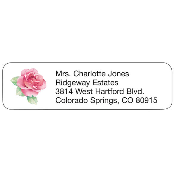 Personal Design Labels Pink Rose