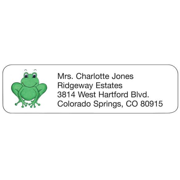 Frog Personalized Address Labels