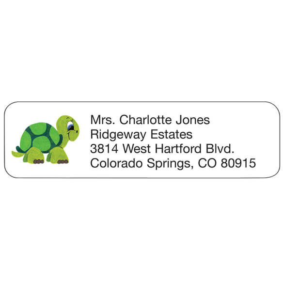 Turtle Personalized Address Labels