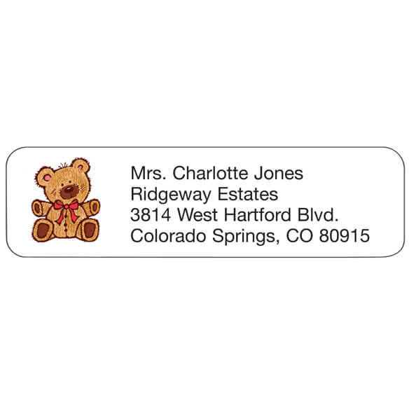 Personal Design Labels Teddy Bear