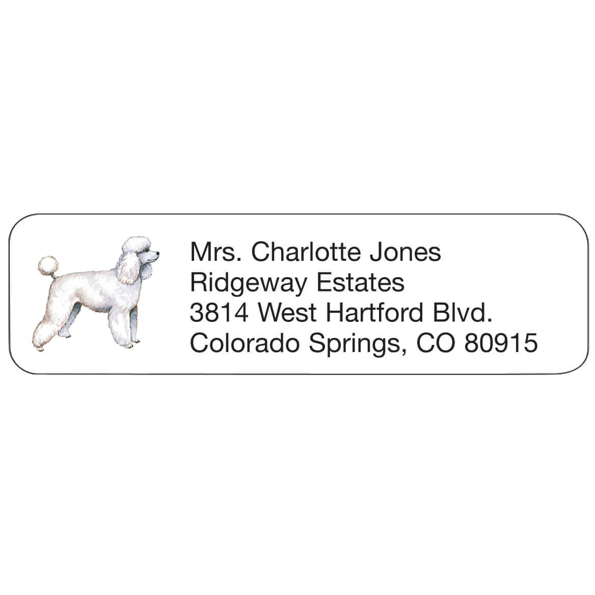 Personal Design Labels Poodle-333201