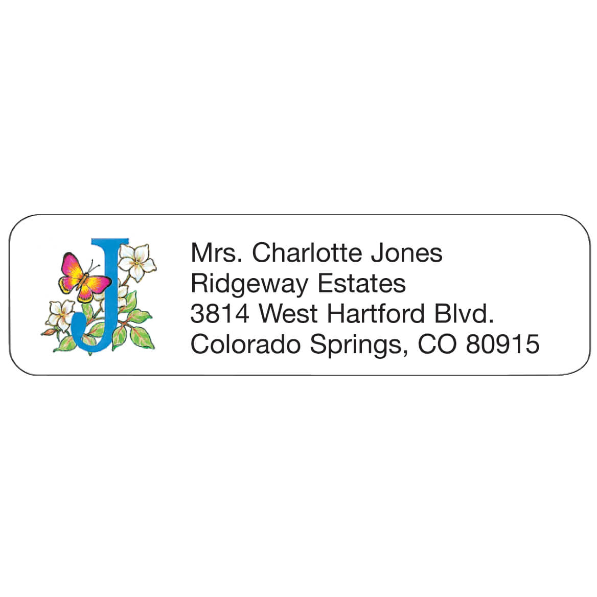 Floral Personalized Address Labels - Set Of 200-333313
