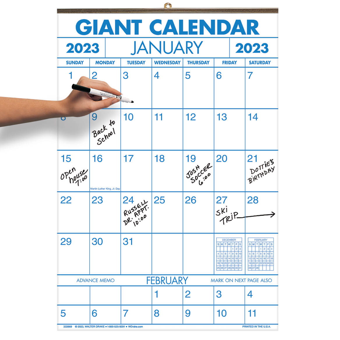 1 year large calendar