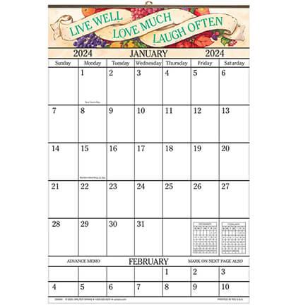 1 Year Large Calendar Large Calendar 1 Year Calendar Walter Drake