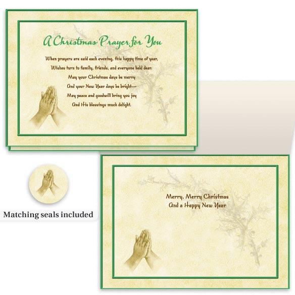 Christmas Prayer Cards - Set Of 20