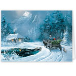 Christmas Cards - Blaylock Winter Wagon Ride Christmas Card - Set Of 20