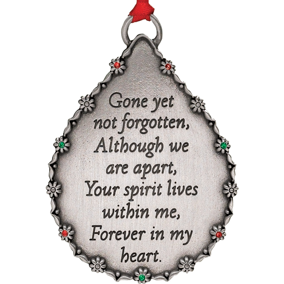 Personalized Teardrop Memorial Ornament-334882