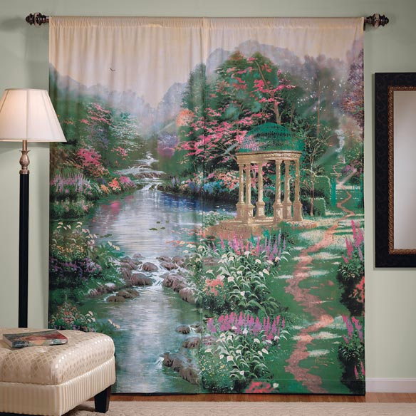Thomas Kinkade Window Art Curtains
