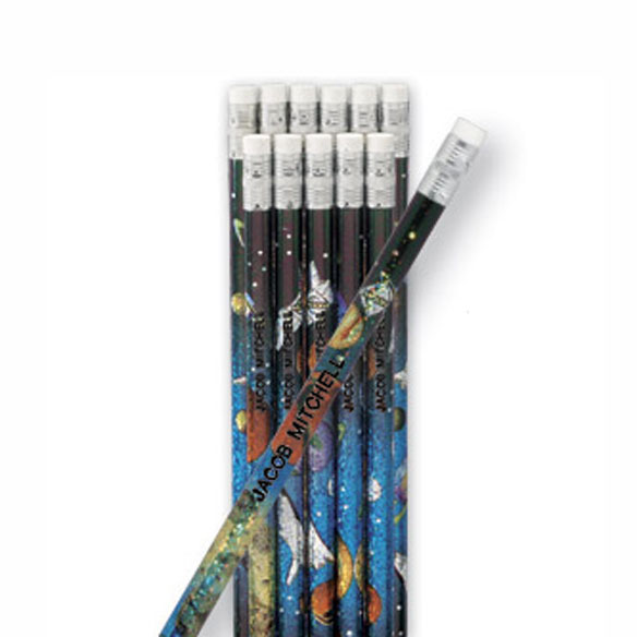 Space Galaxy Pencils - Set of 12