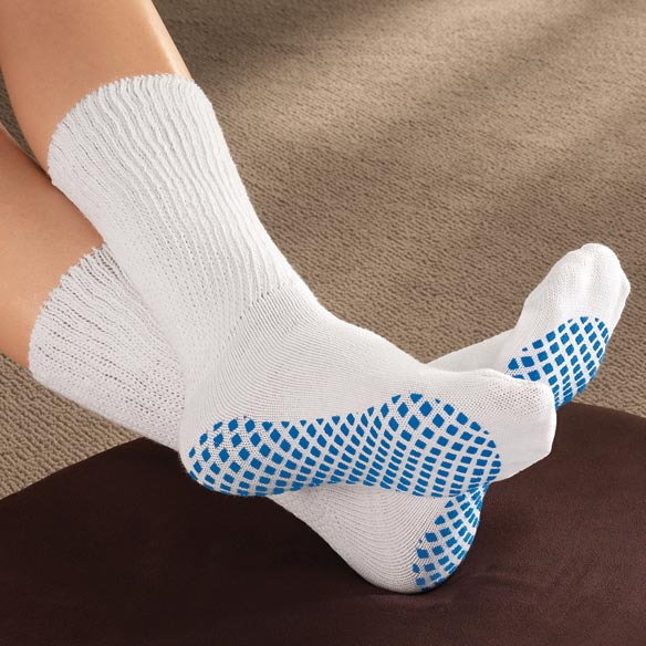 Diabetic Slipper Socks With Gripper Soles