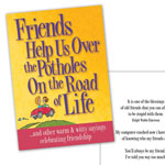 Gifts for All - Friends Help Us Over The Potholes On The Road Of Life Book