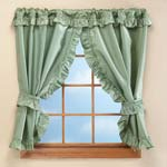 "Bath Accessories - 70""W x 45""H Bathroom Window Curtains"