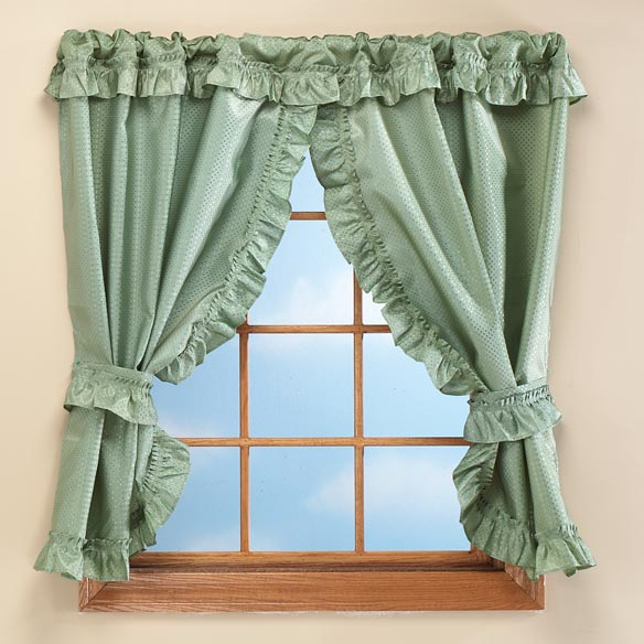"70""W x 45""H Bathroom Window Curtains"