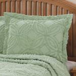 The Eliza Chenille Bedspread Sham, Blue