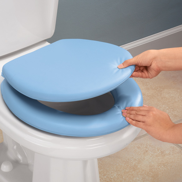 Padded Toilet Seat And Lid Cushioned Toilet Seat Walter Drake